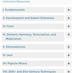 screenshot of table of contents
