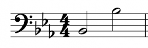 There are 2 Bbs in different octaves, Bb2 and Bb3