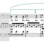 "The first phrase in Schubert's ""Du bist die Ruh"" is divided in two halves."