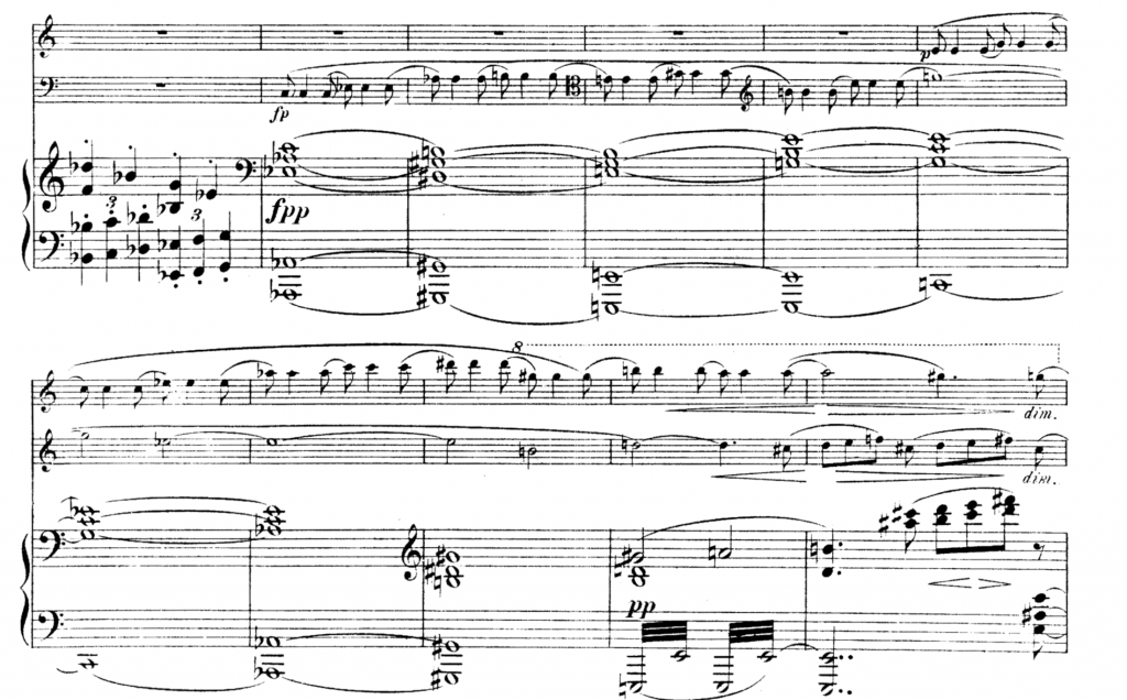 Brahms, Concerto for Violin and Cello, mm. 268–79