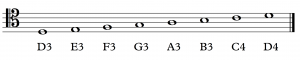 ASPN labels have been added to notes in the tenor clef.