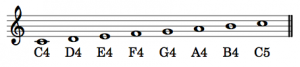 ASPN labels are applied to notes in the treble clef.
