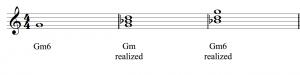 A Gm6 triad is realized in three steps.