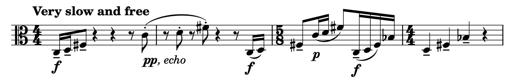 A short viola solo