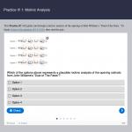 screenshot of quiz