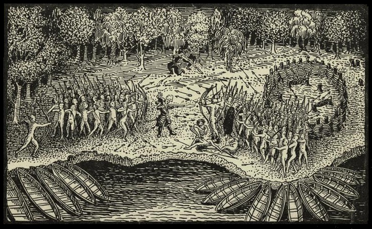 Defeat Of Iroquois By Champlain