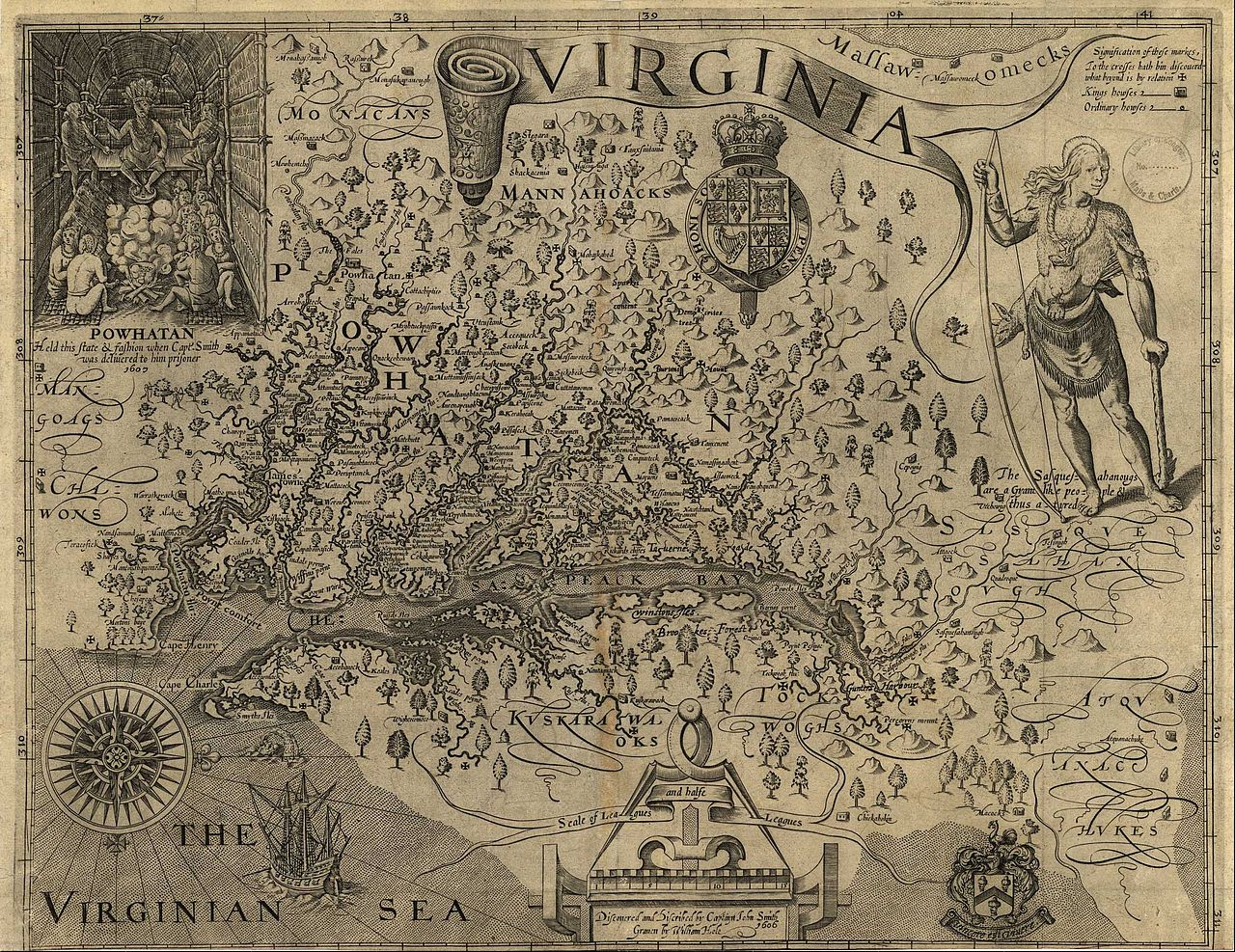 John Smith, A Map of Virginia: With a Description of the Countrey, the Commodities, People, Government and Religion (1612)
