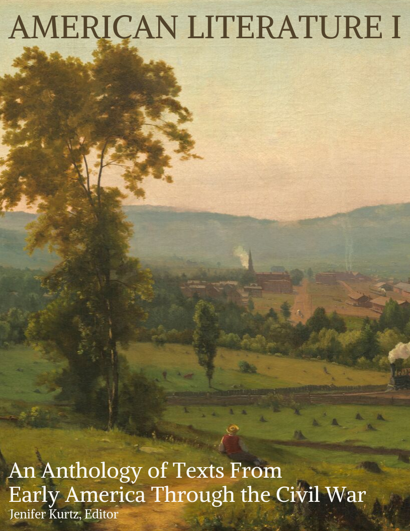 Cover image for American Literature I: An Anthology of Texts From Early America Through the Civil War
